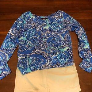 Lilly Pulitzer- Tristan Top Size L in Coastal blue